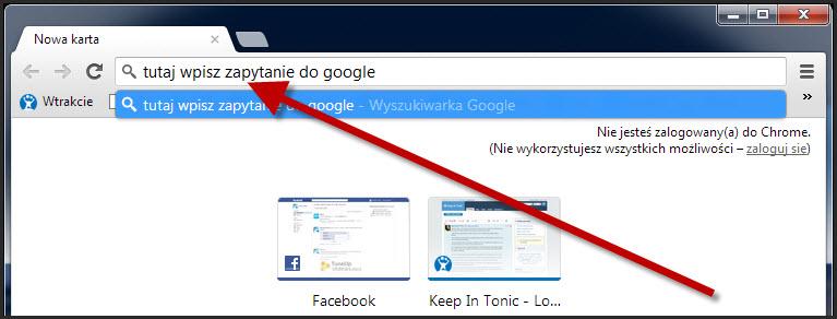 Wyszukiwarka w Chrome