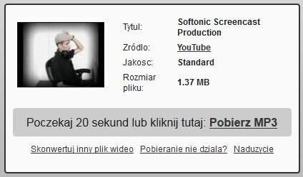 Jak pobierać plik mp3 z Youtube