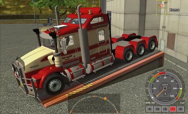 Euro Truck Simulator Kenworth road train T800 8x6 mod pobierz