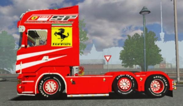 Euro Truck Simulator Scania R500 Ferrari mod pobierz