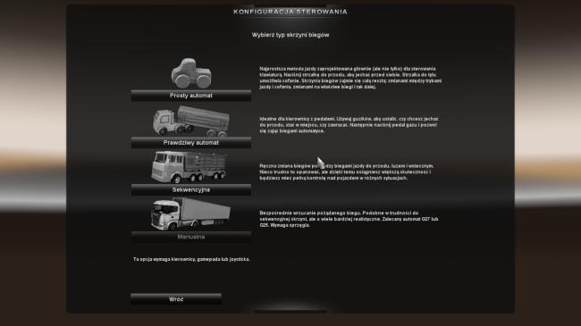 Euro Truck Simulator 2 sterowanie