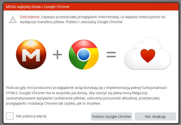 Mega woli Chrome