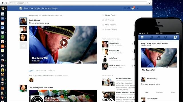 Facebook - nowy wygląd aktualności