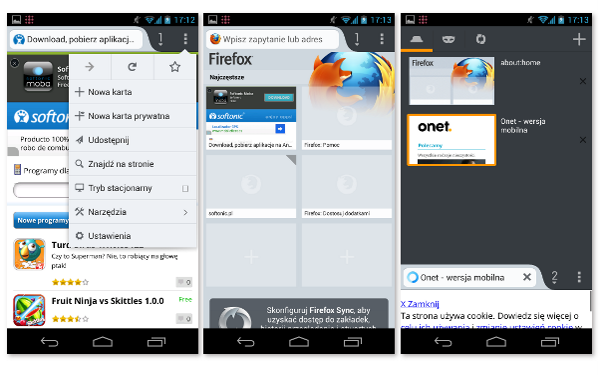 Firefox na Android