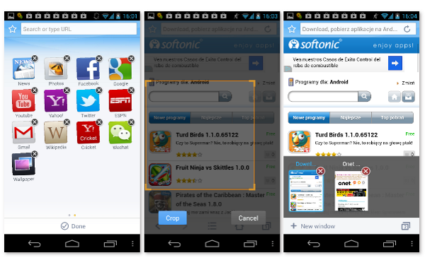 ONE Browser na Android