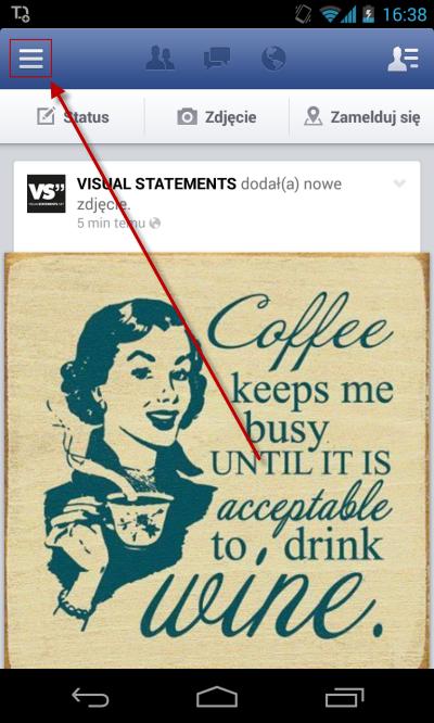 Powiadomienia Facebook