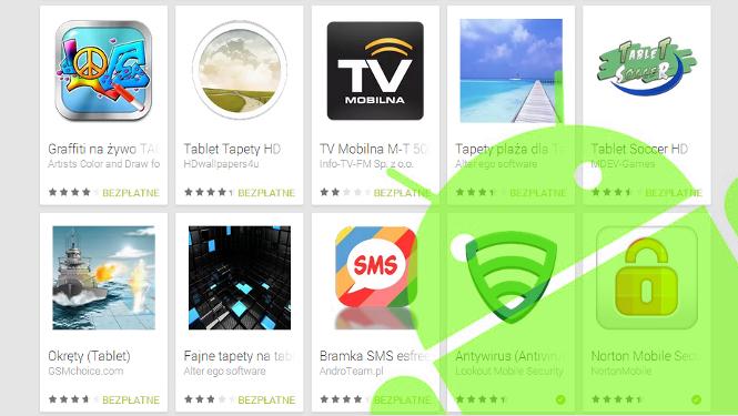 gry i aplikacje na tablet z Android