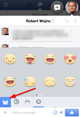 Facebook chat stickers android