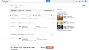 Wyszukiwarka lotów od Google, Google Flights, już działa w Polsce