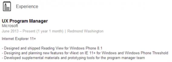 Windows Phone Treshold