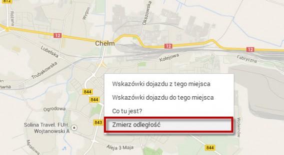 Mapy Google mierzenie odległości