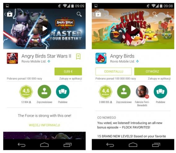 Nowy wygląd sklepu Google Play