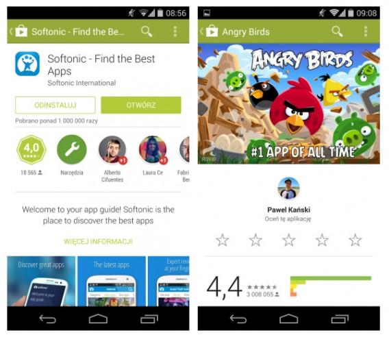 Sklep Google Play z nowym designem