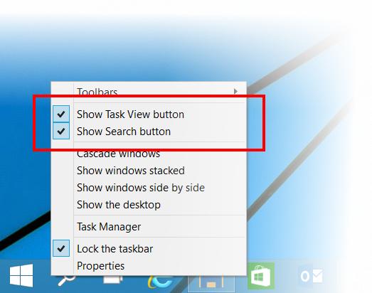 Pasek zadań Windows 10