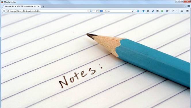 Przeglądarka jako notatnik