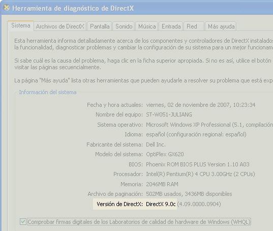 ¿Que version de DirectX tengo instalada? Dx-version-rec