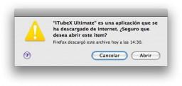 """Mac: elimina el aviso """"X es una aplicación que se ha descargado de Internet. ¿Seguro que desea abrir este ítem?"""""""