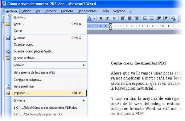 Una manera sencilla de guardar tus documentos en PDF