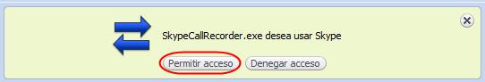 Permitir acceso en Skype