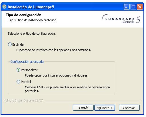 Instalación de Lunascape