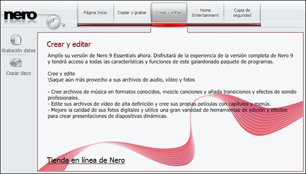 Publicidad en Nero 9 Essentials