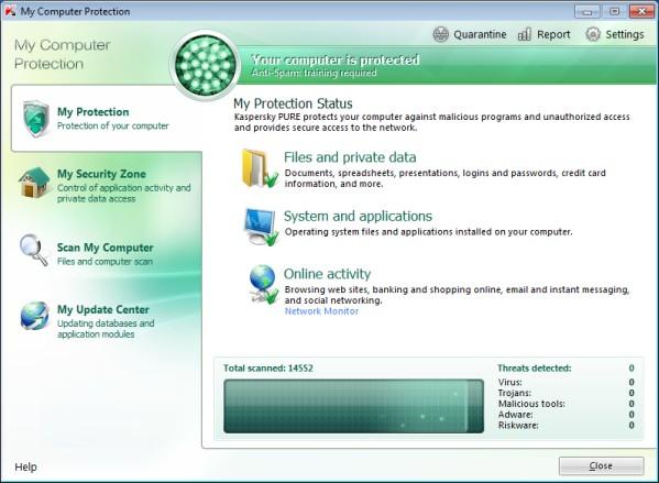 El antivirus de PURE