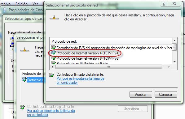 Instalar TCP/IP