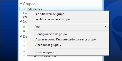 Bloquear grupo