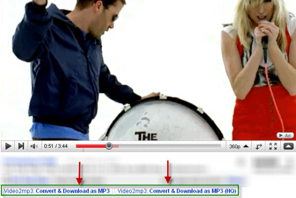 Descarga música de los vídeos de Youtube