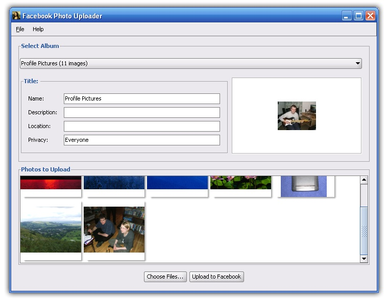 Simple Facebook Photo Uploader
