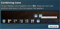 Bins: agrupa iconos en la barra de tareas de Windows 7