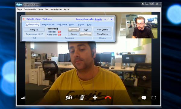 Cómo grabar vídeoconferencias de Skype con VodBurner