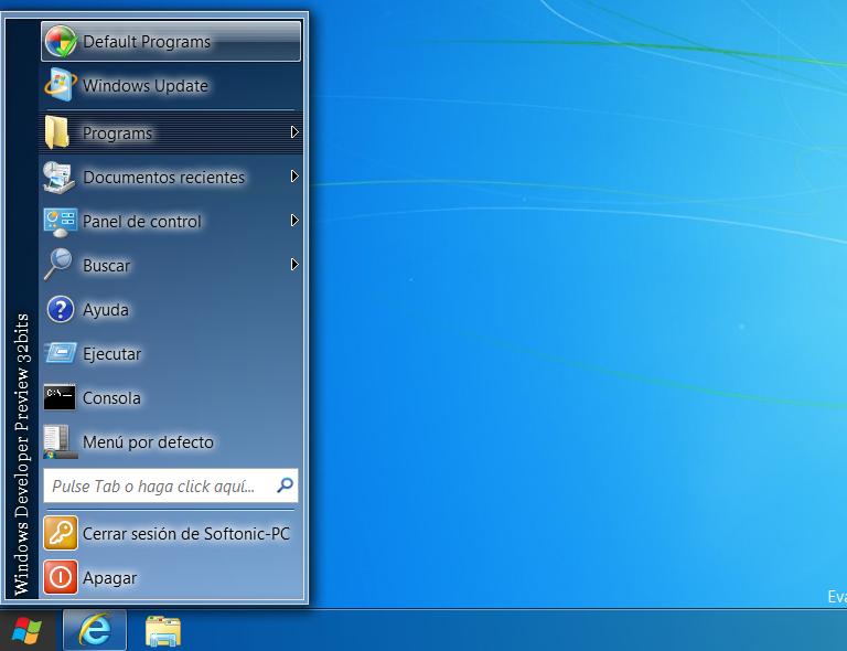 Menú clásico en Windows 8