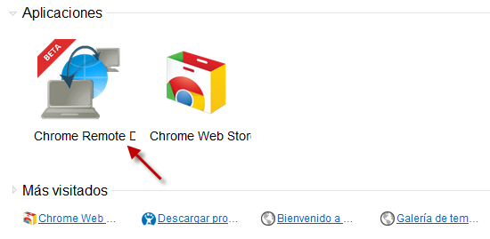 Aplicaciones en Chrome