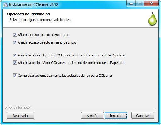 CCleaner instalacion