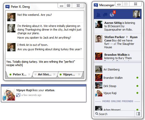 Captura de Facebook Messenger para Windows 7