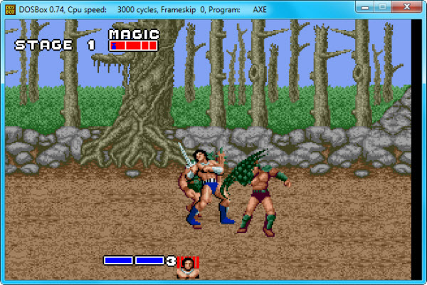 Golden Axe en Windows 7