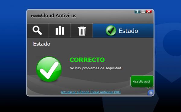 Panda Cloud es un antivirus muy ligero