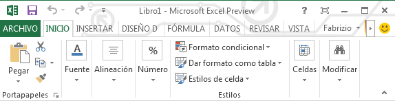 La nueva interfaz de Office 2013: colores planos y mayúsculas