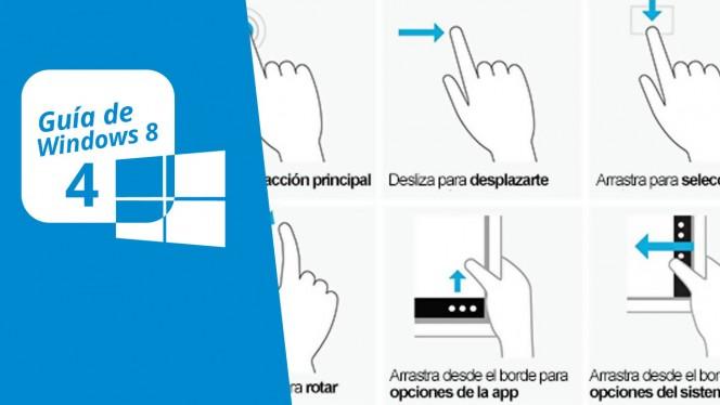 Guía de Windows 8 (4): Controles, gestos y atajos de teclado