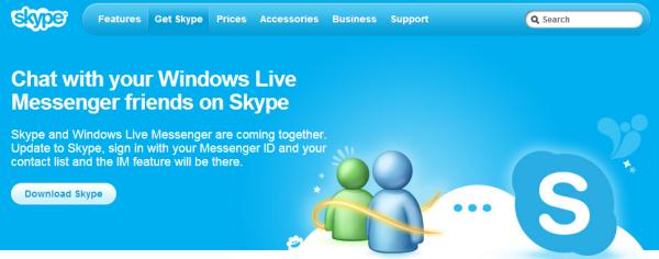 Pagina web de Skype