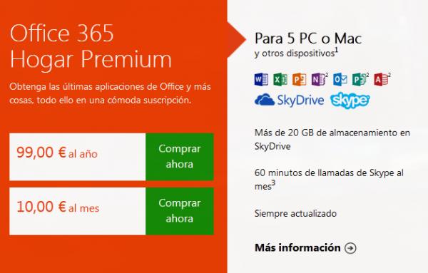 Microsoft Office 2013 (Word, Excel, Powerpoint...) ya a la venta