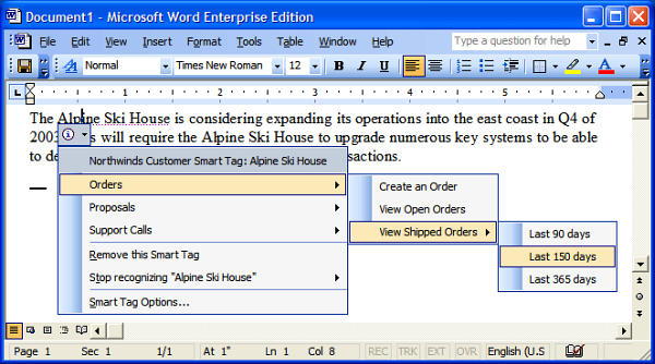 Microsoft Word 2003 en acción