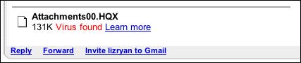 Email virus attachment