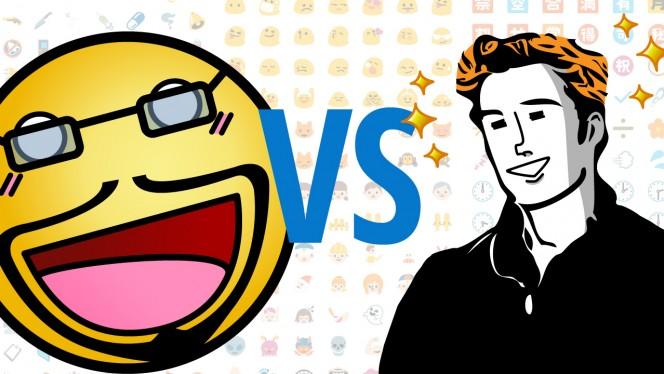 Emoticonos vs. Stickers