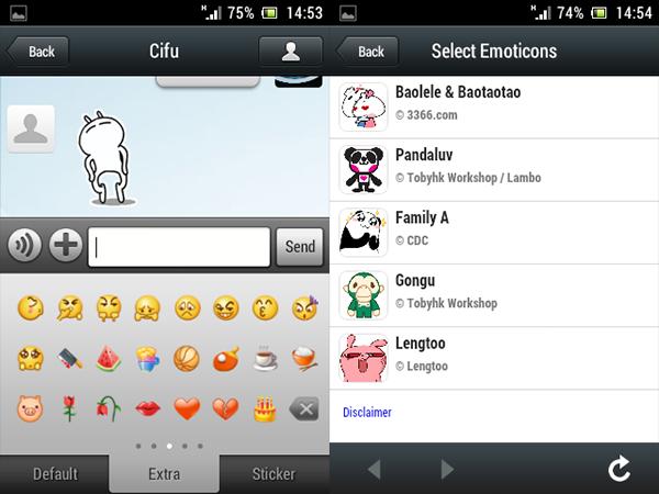 emoticonos y stickers