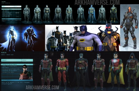 Batman Arkham Origins trajes