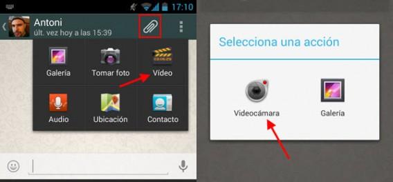 Resultado de imagen para WhatsApp te permite grabar videos