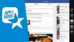 La mejor experiencia táctil con Facebook para Windows 8.1, la aplicación de la semana