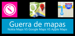 Comparativa de mapas móviles: Nokia vs Google vs Apple